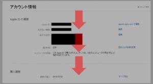 PCでiTunesアプリから解約する方法(iTunes決済の場合)手順(アカウントページを下へ進む)